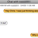 Click to read the entire (and oh so fascinating) chat with Chris.